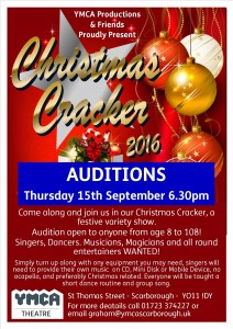 Christmas Cracker Audition Poster 2016